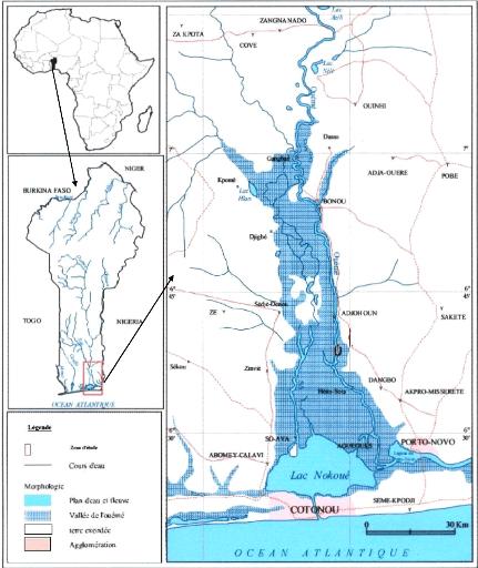 Map of Vallee de l'Ouene, Benin